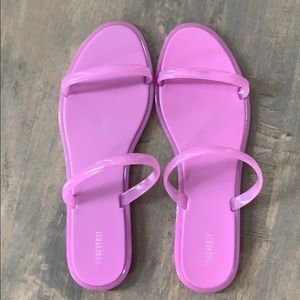 Forever 21 Bright Lilac Sandals